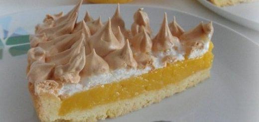 Лимонный пирог с безе. Рецепт