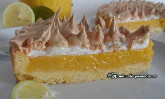 Лимонный пирог с безе. Рецепт (11)