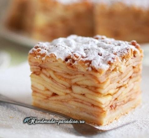 Яблочный пирог Tatra. Рецепт