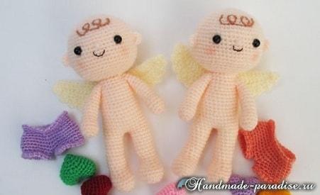 Ангел с валентинкой. Куколка амигуруми крючком (1)