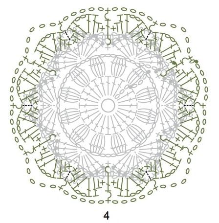 Декоративная подушка крючком из пряжи «травка» (4)