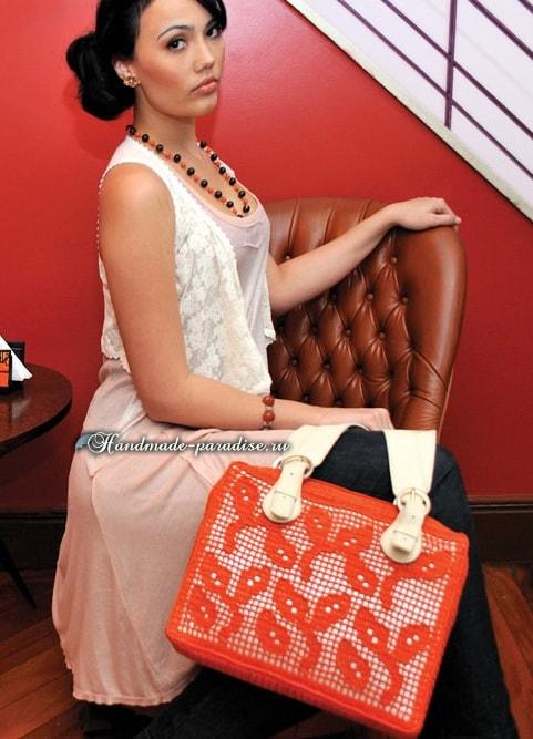 Две большие женские сумки крючком (1)