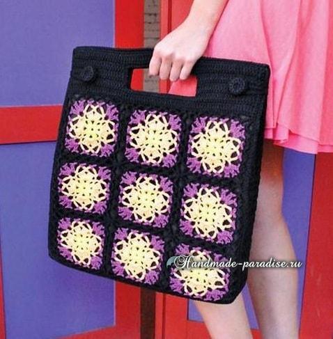 Две большие женские сумки крючком (3)