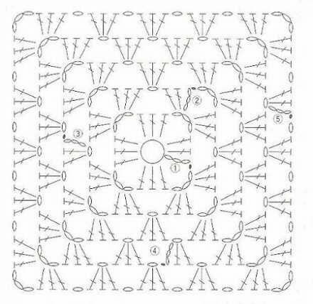 Интерьерная подушка крючком бабушкиными квадратами (2)