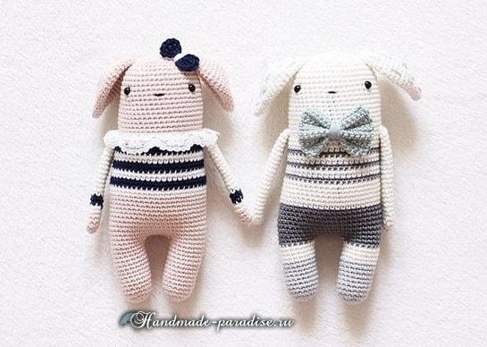 Кролики амигуруми. Девочка и мальчик (3)