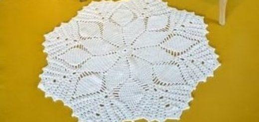 Крючком. Цветочный коврик для гостиной (4)