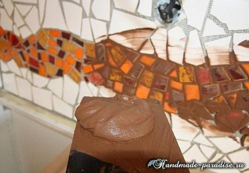 Фартук с мозаикой для кухни