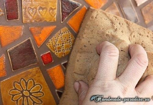 Фартук с мозаикой для кухни (2)