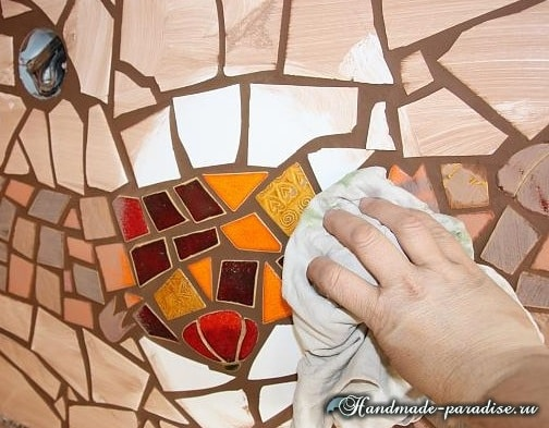 Фартук с мозаикой для кухни (3)