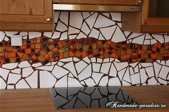 Фартук с мозаикой для кухни (5)