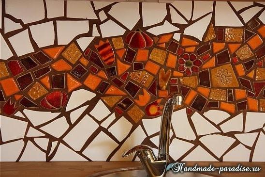 Фартук с мозаикой для кухни (6)