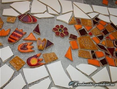 Кухонный фартук из мозаики своими руками (3)