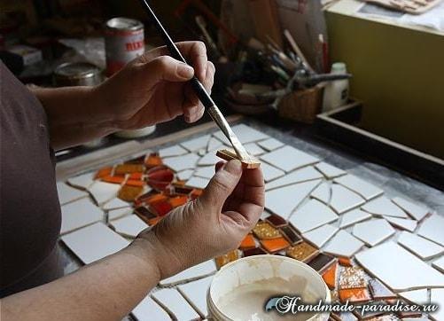 Кухонный фартук из мозаики своими руками (4)