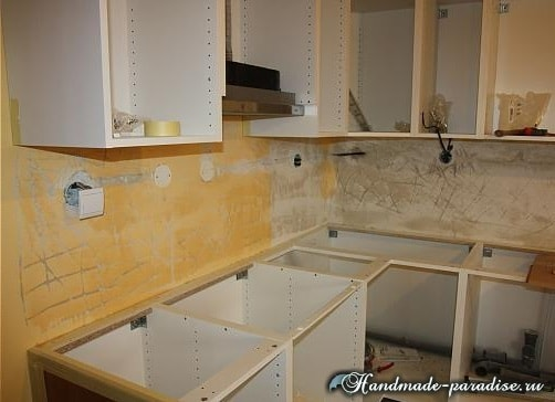 Кухонный фартук из мозаики своими руками (6)