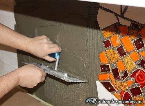 Кухонный фартук из мозаики своими руками (7)