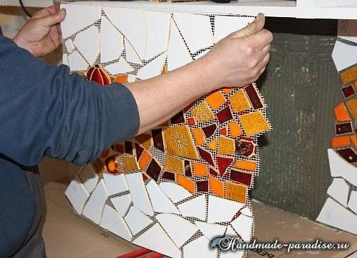 Кухонный фартук из мозаики своими руками (8)