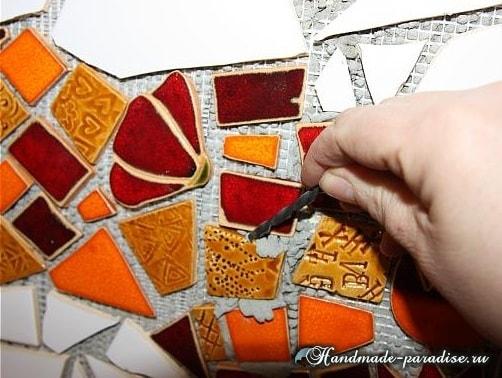 Кухонный фартук из мозаики своими руками (9)