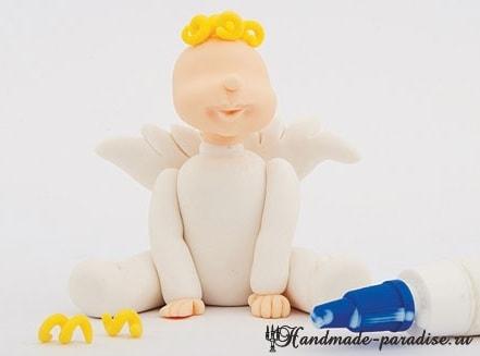 Лепка ангела из полимерной глины (7)