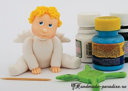 Лепка ангела из полимерной глины (6)