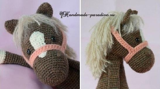 Описание вязания лошадки