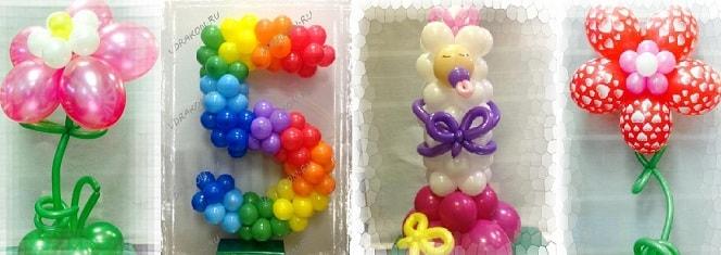 Оформление шарами на выписку из роддома (1)