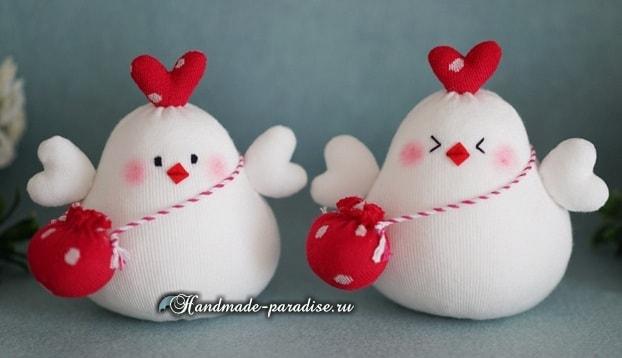 Петушок и курочка из носков (3)