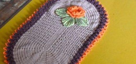 Прикроватный овальный коврик крючком (4)