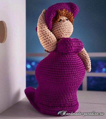 Пышная дама в шляпе. Вяжем куклу амигуруми (1)
