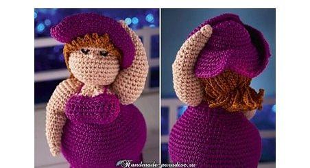 Пышная дама в шляпе. Вяжем куклу амигуруми (2)
