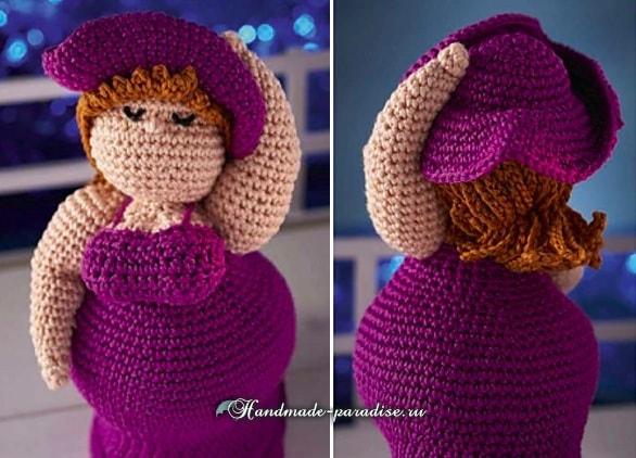 Пышная дама в шляпе. Вяжем куклу амигуруми (3)