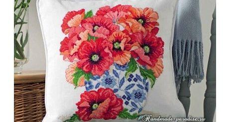 Схема вышивки «Маки в китайской вазе» (1)