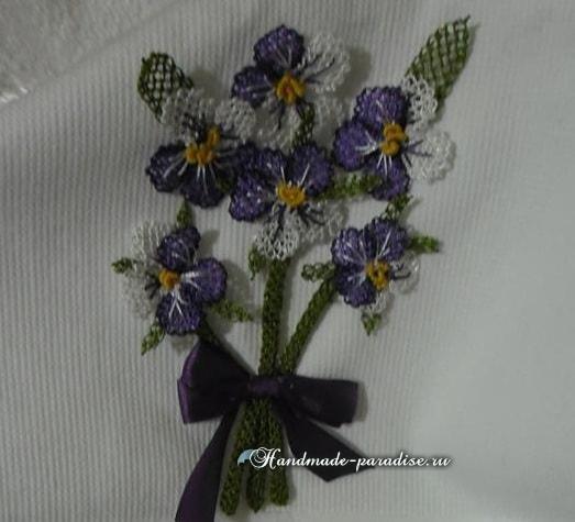 Цветы в технике игольное кружево (2)