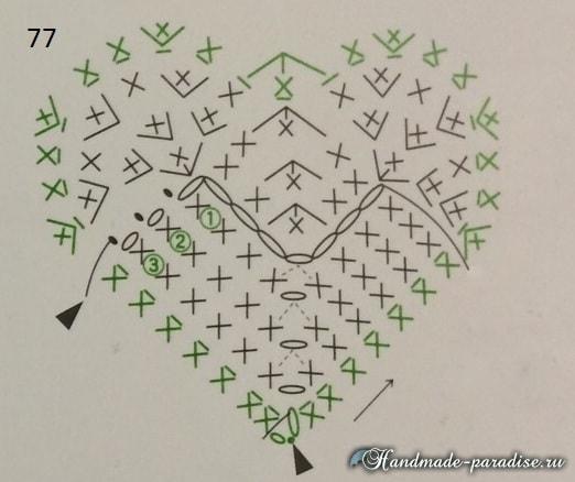 Валентинки крючком для украшения подарка (1)