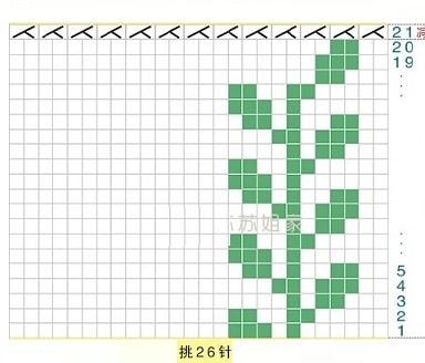 Схема вязания. Варежки спицами жаккардовым узором