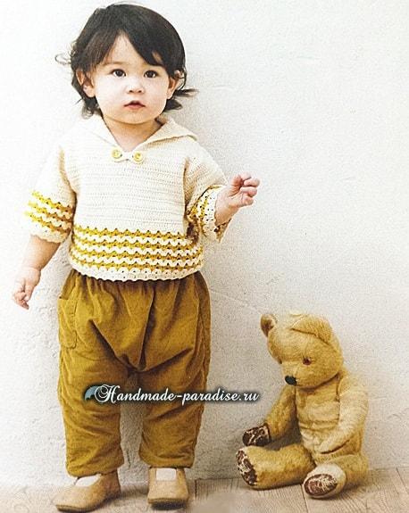 Вязаная крючком матроска для мальчика (3)