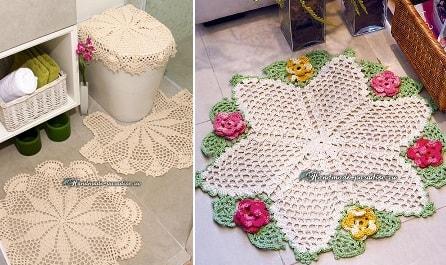 Вязаные коврики для ванной комнаты. Схемы (3)