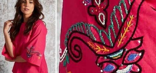 Вышивка на рукавах летней блузы (2)