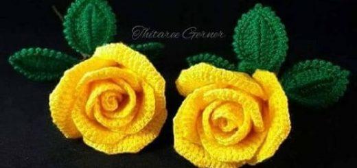 Желтые розы крючком. Мастер-класс (2)