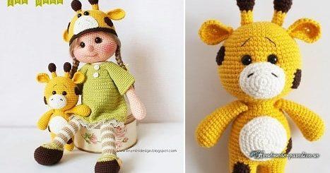 Жираф и куколка Зоя крючком. Описание