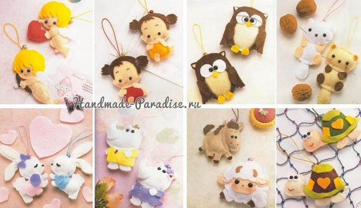 Ангелы, куколки и другие игрушки из фетра. Шаблоны (1)