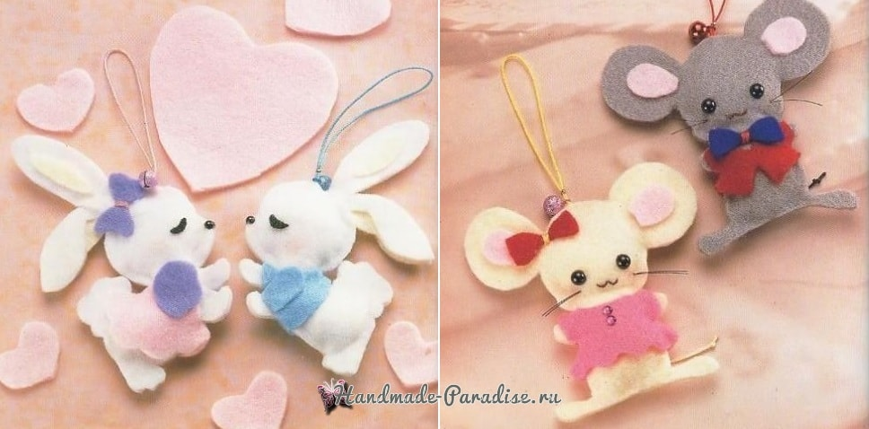 Ангелы, куколки и другие игрушки из фетра. Шаблоны (2)