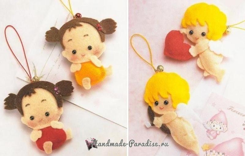 Ангелы, куколки и другие игрушки из фетра. Шаблоны (3)