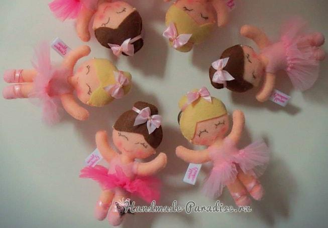 Балеринки из фетра. Шаблоны (4)