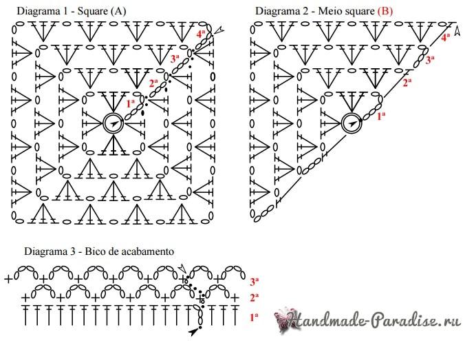 Блуза крючком бабушкиными квадратами (4)