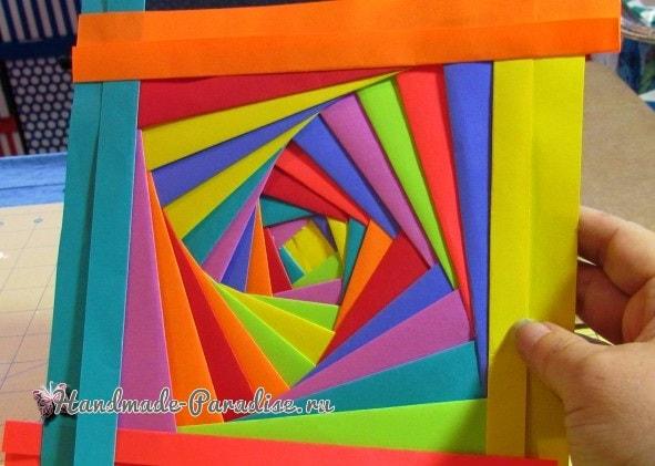 Из упаковочной и цветной бумаги. Обложка для книжки (2)
