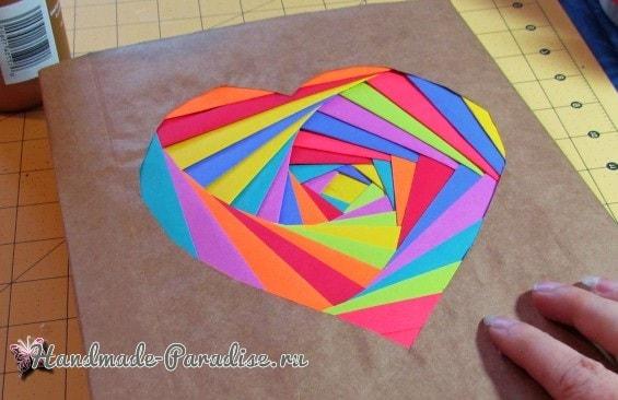 Из упаковочной и цветной бумаги. Обложка для книжки (3)