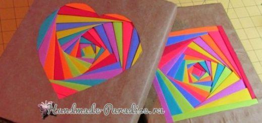 Из упаковочной и цветной бумаги. Обложка для книжки (4)