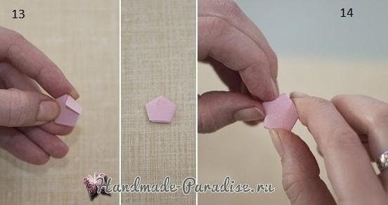 Как сложить звездочку из бумаги в технике оригами (1)