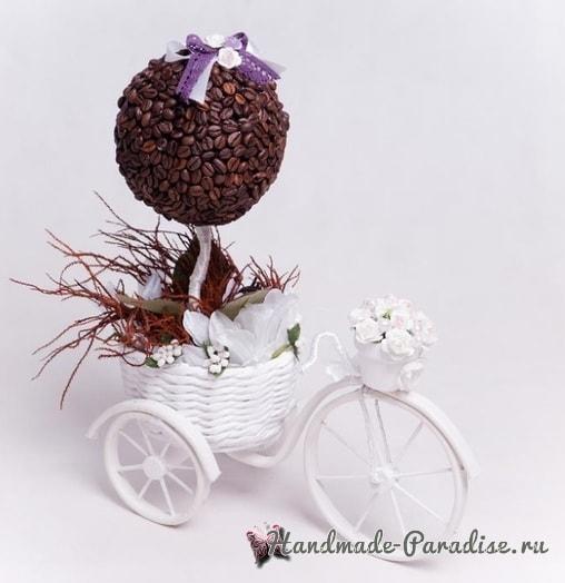 Кашпо из газет, велосипед из проволоки и кофейный топиарий (1)