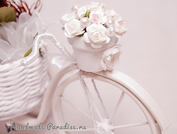 Кашпо из газет, велосипед из проволоки и кофейный топиарий (2)